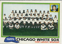 Chicago White Sox 1981 Topps #664 Team Checklist  Baseball Card