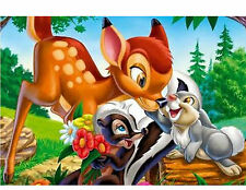 Bambi 48 Large Sticky White Paper Stickers Labels New