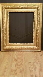 """Antique Wood Gold Leaf Frame 26"""" X 30"""""""