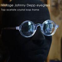 491d7c86e53 Round vintage John Lennon crystal eyeglasses Johnny Depp artists loop RX  glasses