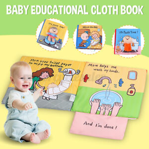 Baby Cloth Books Crinkle Books Soft Tails Books Infants Toddler Interactive Toy