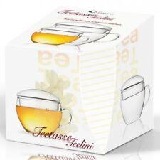 Creano Teetasse Teelini (Glastasse Tasse Glas für Erblühtee Teerosen Teekugel)
