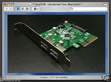 2 Port SuperSpeed Plus USB 3.1 PCIe Card For Apple Mac Pro 3,1-5,1 w/OSX 10.8.5+