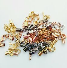 Cord ends with trigger clasp.5 mm (outside). Pack of 10 sets.  Mixed colours