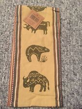 Buffalo Pattern Kay Dee Tea Towel Cotton Lot Of 2