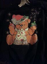 Woman's Sweatshirt- Christmas! TEDDY BEAR  Design