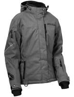 Castle X Women's G2 Jacket Heather Gray XL & 2XL Ladies Snowmobile Coat