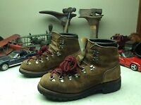 DEXTER DISTRESSED USA VINTAGE BROWN LEATHER MOUNTAIN TRAIL HIKING BOOTS 9N