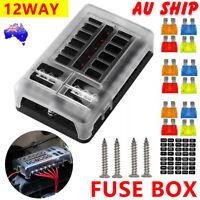 Fuse Box Block Blade Holder LED Light Circuit Tester 12 Way 12V Car Auto Marine