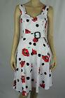 Leona by Leona Edmiston Ladies Sleeveless Spot Floral Dress size 10