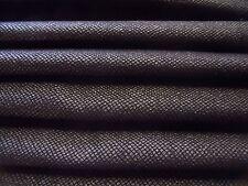 ITALIAN  WOOL SNAKESKIN  SUITING-BLACK-COATTING/JACKET FABRIC -FREE P &P UK ONLY
