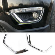 For Jeep Compass 2017-2018 Chrome Fog Light Strip Lamp Eyelid Bumper Cover Trim