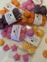 8 Flower Shaped Wax Melts 75-80g Highly Scented Soy Wax Melt. Choose your scent
