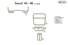 TOYOTA TERCEL 1995 1996 1997 1998 DASH TRIM KIT
