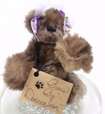 Tulip - Brown Teddy- Bears by Donna Jean -  OOAK -Artist Made Plush Natural Wool