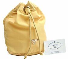 Authentic PRADA Nylon Pouch Yellow A4519