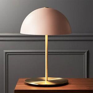 Nordic Post Modern Metal Table/ Desk Lamp Pink & Brass Finish Reading Light Gift