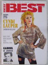 Revue BEST Janvier 1987 Cyndi Lauper Iggy Pop Peter Gabriel