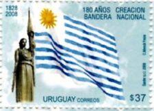 2008 old pattern no longer use national flag & sculpture URUGUAY Sc#2256 MNH