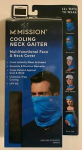 Mission Adult Cooling Neck Gaiter Multifuntional Face & Neck Cover~Mask~Black