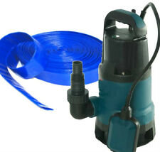 500W SUBMERSIBLE DIRTY WATER FLOOD PUMP + 20M HOSE