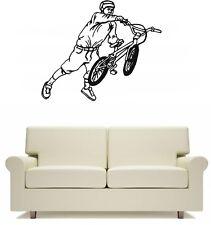 BMX Rider Stunt Bike Sport Wall Art Sticker Free Postage Boys