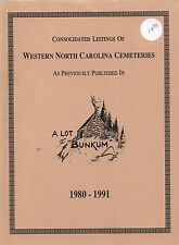 Western North Carolina NC Cemeteries Survey Book Buncombe Madison Yancey