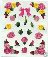 RARE Creative Memories Roses Block Sticker Sheet Bn&nla