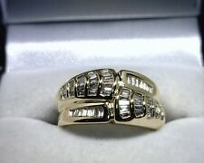 14K Yellow Gold 1.25 TCW Baguette Diamond Ring Size 7.5