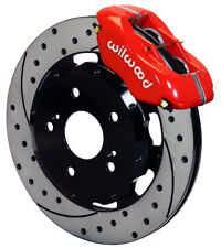 """WILWOOD DISC BRAKE KIT,FRONT,02-06 ACURA RSX,04-05 CIVIC HB SI,12"""",RED,DRILLED"""