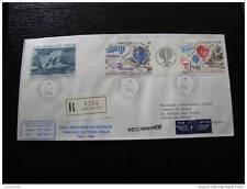 TAAF lettre 1/1/84 - timbre - yvert et tellier aérien n°79 et 83A (cy4)