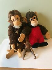 Lot of monkey toys collectible Vintage HERMANN TEDDY Original  wooden Japan