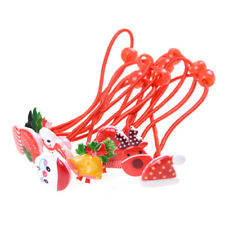 4Pcs Kids Girl Hair Accessories Ropes With Elastic Hair Band Christmas Gift HU