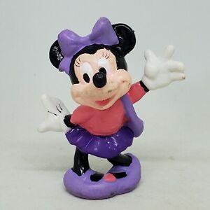Vintage Minnie Mouse Pink & Purple Dress PVC Figure Disney Applause Cake Topper
