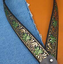 GOLDEN PALM Cotton USA made A & F-style TROPHY Mandolin Strap