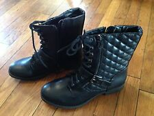 White Mountain Outlaw Womens Boots Shoes Black size 6 1/2 Medium Strap and Heels