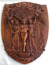 Maiden Mother Crone Triple Goddess Wall Relief Maxine Miller Plaque #10730