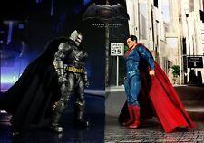 MIB DC FILMS COLLECTIBLES B v S Premium ARMORED BATMAN & SUPERMAN Action Figures