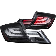 ANZO LED TAILLIGHTS BLACK FITS 2013-2015 HONDA CIVIC 321323