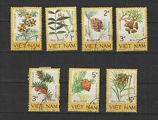 plantes rares 1986 Viêt Nam une série de 7 timbres / T1674