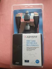 BRAND NEW 3 METRE HDMI CABLE With MINI And MICRO ADAPTERS