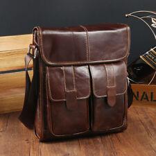 Genuine Leather Man Bag Shoulder Messenger Cross-body Bag Satchel Small Handbag