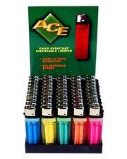 (50) Disposable Classic Cigarette Lighters - Full Standard Size - Wholesale Case