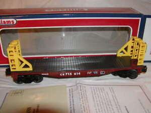 Williams by Bachmann 47507 Conrail 40 Ft Flat Car with Bulkheads O 027 MIB New