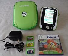 LeapFrog Leap Pad Explorer Green Tablet, Green Carrying Case, 4 Games & Charger
