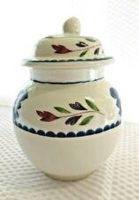 Adams Lancaster Sugar Bowl Jar with lid English Ironstone Vintage China