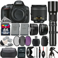 Nikon D5300 DSLR Camera + Nikon 18-55mm Lens + 500mm Telephoto Lens - 32GB Kit