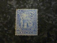 ST VINCENT POSTAGE STAMP SG97 2 1/2D BLUE MOUNTED-MINT