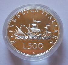 500 LIRE 1989 CARAVELLE PROOF IN CAPSULA - MONETA NON COMUNE -