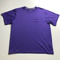 Nike Dri Fit Men's Large L Purple Workout Gym Shirt Crew Neck Short Sleeves
